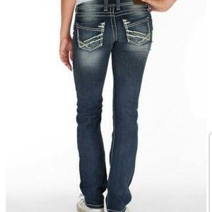 BKE Womens Sabrina Straight Stretch Jeans 27 X 31